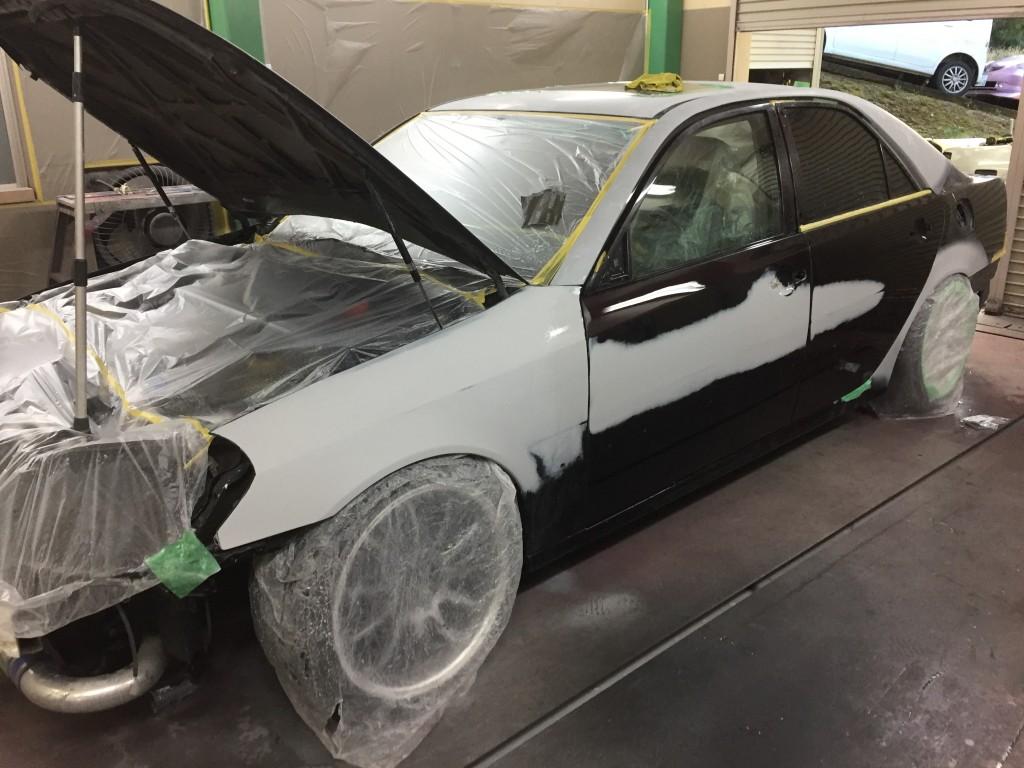 全塗装 JZX110 マークⅡ その7 豊田市  板金塗装