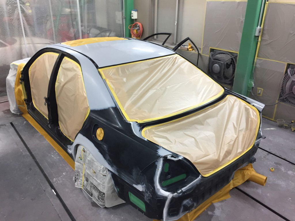 全塗装 JZX110 その8 ついに塗装編  豊田市  板金塗装