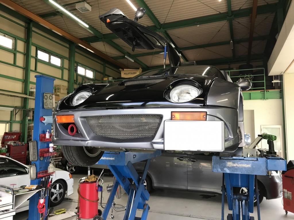 マツダ AZ-1 車検 足回り修理
