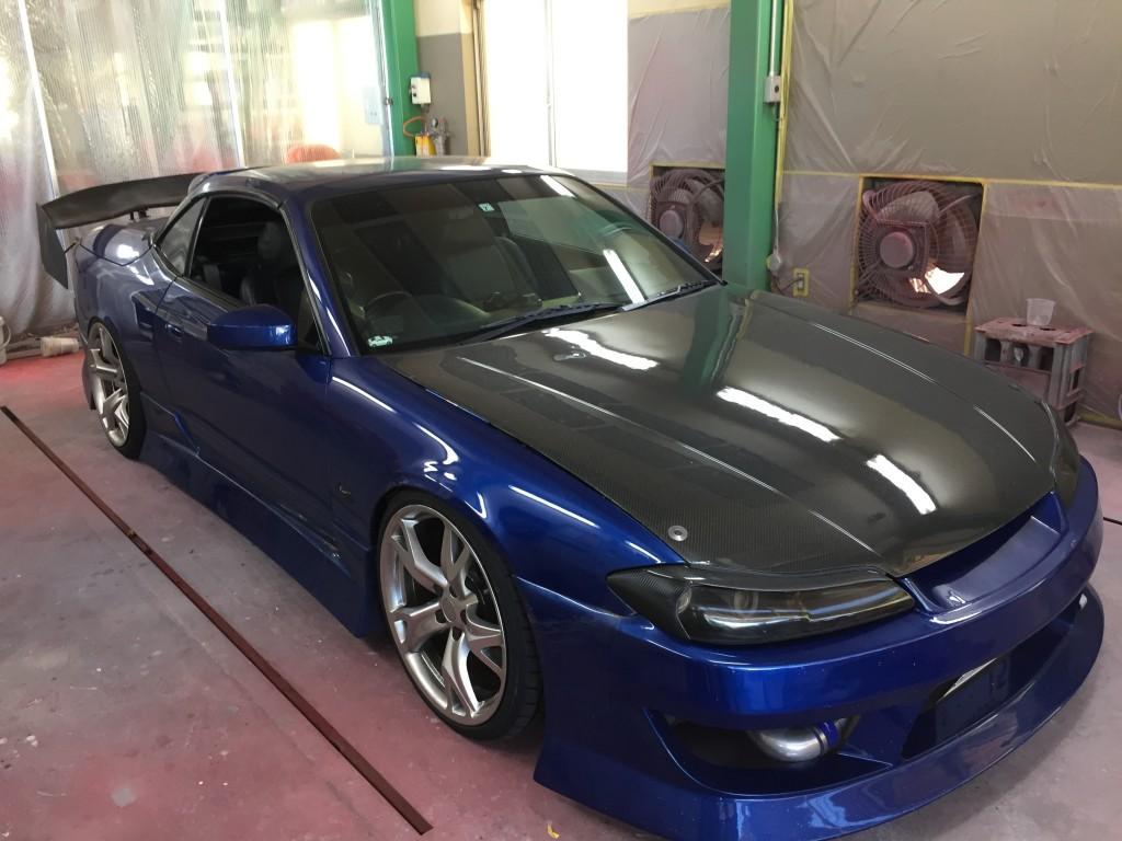 S15 シルビア ヴァリエッタ オーバーフェンダー叩き出し製作  豊田市  板金塗装
